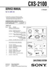 Buy Sony CXS-2100 Manual-1663 by download Mauritron #228461