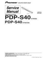 Buy Pioneer PDP-S38 Manual by download Mauritron #227677