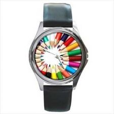 Buy Colored Pencils Artist Art Student Unisex Wrist Watch