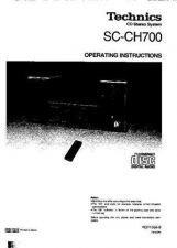 Buy Panasonic SCCH700 Operating Instruction Book by download Mauritron #236436