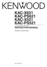 Buy Kenwood KAC-PS541 Operating Guide by download Mauritron #221394