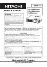 Buy Hitachi CP-X205W Service Manual by download Mauritron #261007