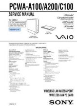 Buy Sony PCV-W500GN1 Service Manual. by download Mauritron #243492
