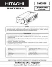 Buy Sony CPX320W Service Manual by download Mauritron #231788