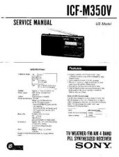 Buy Sony ICF-M350V Service Manual. by download Mauritron #241617