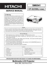 Buy Hitachi SM 0541E Manual by download Mauritron #225546