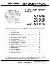 Buy Sharp SHARP AR-122E - 157E SERVICE Service Manual by download Mauritron #210629