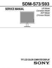 Buy Sony SDM-S53 Technical Manual. by download Mauritron #243843