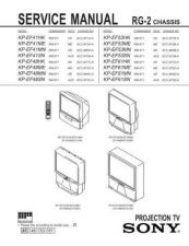 Buy Sony KP-61XBR38 Service Manual. by download Mauritron #242162