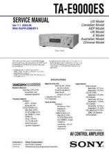 Buy Sony TA-E9000ES Service Manual. by download Mauritron #245258