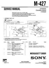 Buy Sony M-427 Service Information by download Mauritron #237902