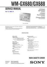 Buy Sony WM-GX680GX688 Service Information by download Mauritron #238307