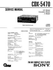 Buy Sony CDX5460[2] Service Manual by download Mauritron #244141