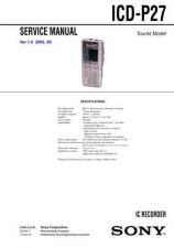 Buy Sony ICD-P27 Service Manual. by download Mauritron #241481