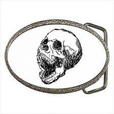 Buy Skull Screaming Goth Art Unisex Belt Buckle