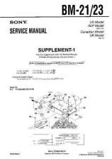 Buy Sony BM-21-23 Service Manual by download Mauritron #236871