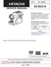 Buy Hitachi DZMV208ESW-2 Service Manual by download Mauritron #261891