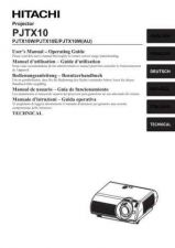 Buy Hitachi PJTX10W DA Manual by download Mauritron #225465