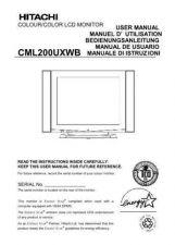 Buy Hitachi CML200UXWB ES Manual by download Mauritron #224471