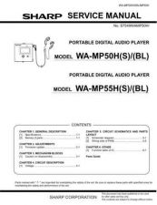 Buy Sharp. WAMP50H-MP55H_SM_GB Service Manual by download Mauritron #211754