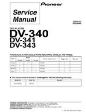 Buy Pioneer DV-340-3 Service Manual by download Mauritron #234099