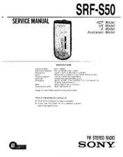 Buy Sony SRF-S50 Service Manual by download Mauritron #233148