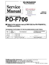 Buy PIONEER PDF706 RRV1798 Technical Information by download #119327