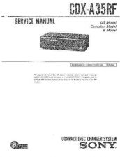Buy Sony CDX-A30RFService Manual by download Mauritron #237571