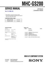 Buy Sony MHC-GS300AV Technical Information by download Mauritron #235765