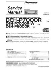 Buy Pioneer DEH-P7000R-W-1 Technical Manual by download Mauritron #232486