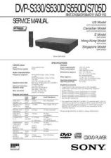 Buy Sony DVP-S300S305S315 Service Manual by download Mauritron #240528
