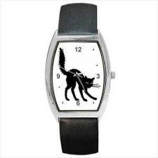 Buy Black Halloween Cat Kitty Feline Art Unisex Wrist Watch