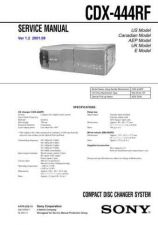 Buy Sony CDX-444RF Service Manual by download Mauritron #237459