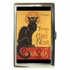 Buy Chat Noir Black Cat Cigarette Money Credit Business Card Case