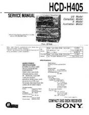 Buy Sony HCD-H405 Service Manual by download Mauritron #232036