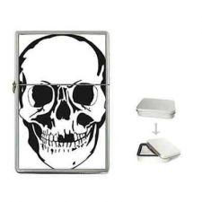 Buy Human Skull Skeleton Head Cigarette Flip Top Lighter