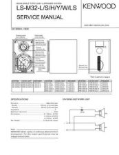 Buy KENWOOD LS-M32L M32S M32H M32Y M32W M32LS Technical Information by download #118