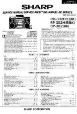 Buy Sharp CD302-E-X-H-310H SM SUPPLEMENT GB-DE-FR Service Manual by download Mauri