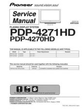 Buy Pioneer PDP-4270HD-KUCXC Service Manual by download Mauritron #234752