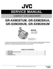 Buy JVC GR-SXM289UM Service Manual Schematic Circuit. by download Mauritron #270826