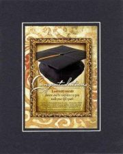 Buy For Graduations - Congratulations -Jeremiah 29:18x10 BackOnBlack Double Matting