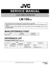 Buy JVC LM-15G-UA Service Manual Schematic Circuit. by download Mauritron #271807