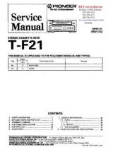 Buy PIONEER TF21 RRV1732 Technical Information by download #119370