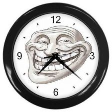 Buy Troll Guy Wall Clock Rage Face Toon Comic Meme Art Bar Decor