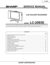 Buy Sharp LC20B5H Service Manual by download Mauritron #209898
