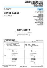 Buy Sony DCR-PC103EPC104E-1 Manual-1664 by download Mauritron #228495