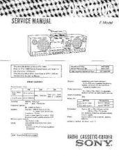 Buy Sony CFS-1110S Service Information by download Mauritron #237668