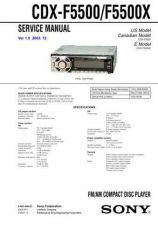 Buy Sony CDX-F5500X Service Manual by download Mauritron #238571