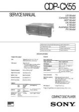 Buy Sony CDP-CX55 Manual by download Mauritron #228208