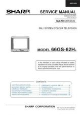 Buy Sharp 66GS62H (1) Service Manual by download Mauritron #207898